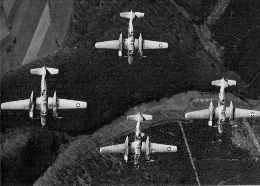 668th A-26s on a mission over Germany